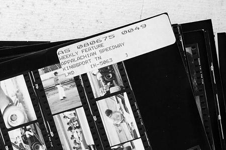 David Allio racing photo archives proof sheets