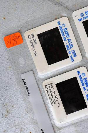 David Allio racing photo archives slide storage