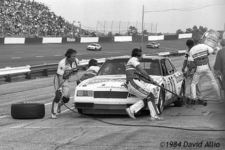 Jeff Hammond Darrell Waltrip North Carolina Motor Speedway 1984