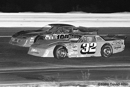 Clearfield Mountain Speedway 1988 Glenn Gault Steve Peles