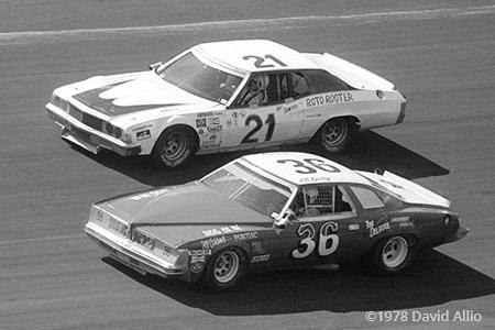 Atlanta Intl Raceway 1978 HB Bailey Gary Bowsher