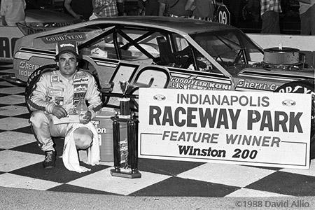Indianapolis Raceway Park 1988 Mike McLaughlin
