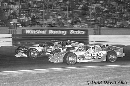 Bowman Gray Stadium 1988 Johnny Johnson Melvin Puddin Swisher