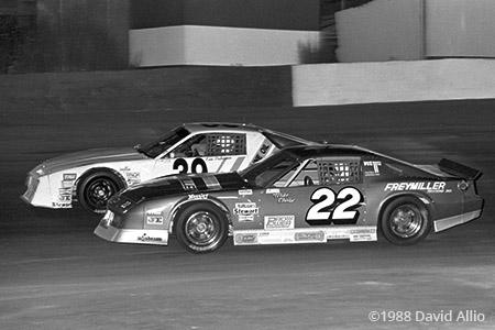 Stockton 99 Speedway 1988 Mike Chase Ken Pedersen