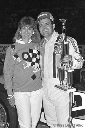 Jennerstown Speedway 1988 Glenn Gault Rosalyn Gault
