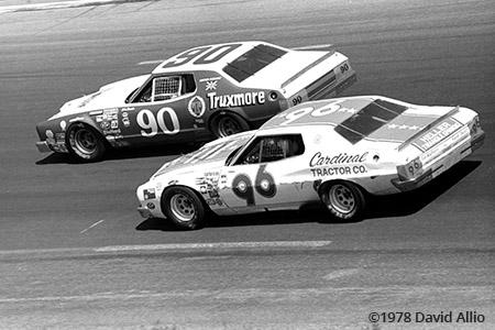 Charlotte Motor Speedway 1978 Dick Brooks Dale Earnhardt