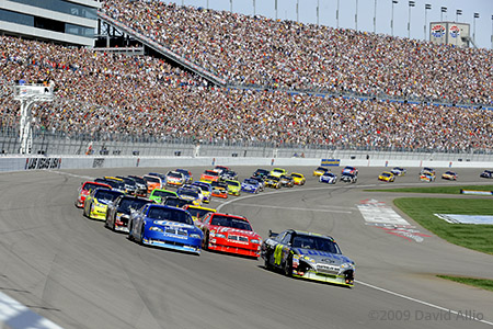 Las Vegas Motor Speedway 2009 Jimmie Johnson Kurt Busch