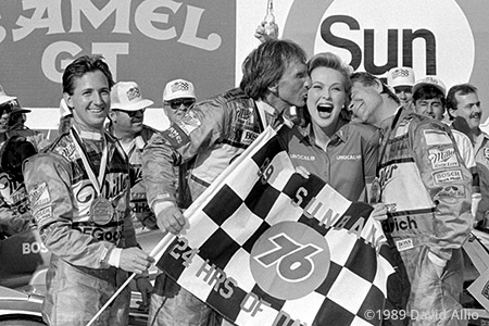 Daytona Intl Speedway 1989 John Andretti Derek Bell