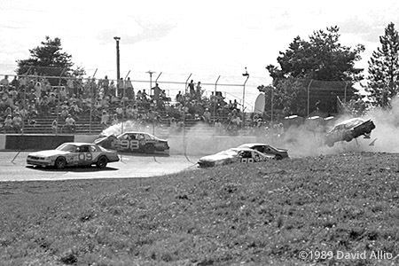 Evergreen Speedway 1989 Jim Bown Jerry Bowers