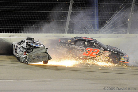 Kentucky Speedway 2009 Josh Richards Brad Reithmeyer ARCA