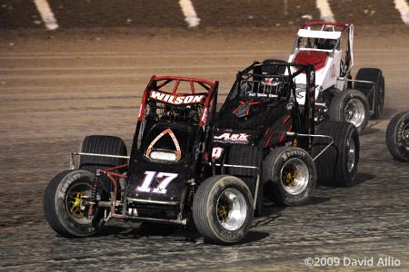 The Dirt Track at LVMS 2009 Seth Wilson Garrett Hansen USAC National and CRA Sprint Car Series