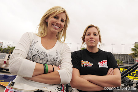 The Strip at LVMS 2009 Courtney Force Brittany Force