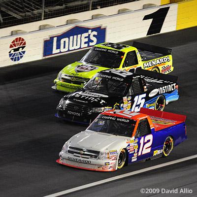 Lowes Motor Speedway 2009 Mario Gosselin Brian Ickler