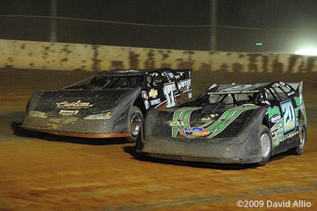 Cherokee Speedway 2009 Jimmy Owens Dale McDowell