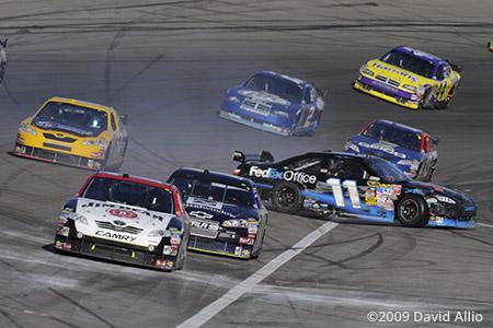 Las Vegas Motor Speedway 2009 Denny Hamlin spins
