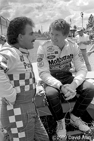 Evergreen Speedway 1989 Bill Elliott Derrike Cope