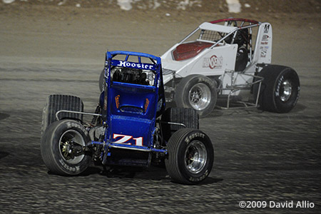 The Dirt Track at LVMS 2009 Shane Hmiel USAC National and CRA Sprint Car Series