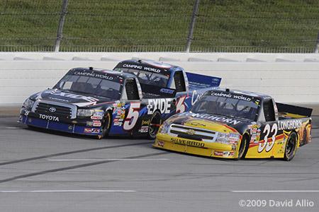 Kentucky Speedway 2009 Mike Skinner Ron Hornaday Jr