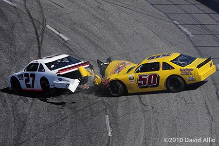 North Wilkesboro Speedway 2010 Justin LaDuke Garrett Bunch