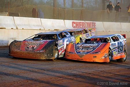 Cherokee Speedway 2010 Jonathan Davenport Steve Shaver