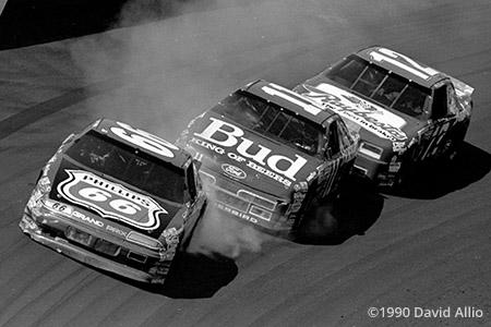 Bristol Intl Raceway 1990 Dick Trickle Geoff Bodine