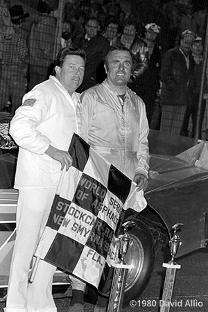 New Smyrna Speedway 1980 Junior Hanley winner Dick Brooks flagman