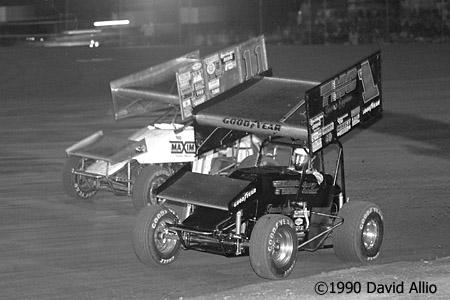 Lernerville Speedway 1990 Sammy Swindell Steve Kinser