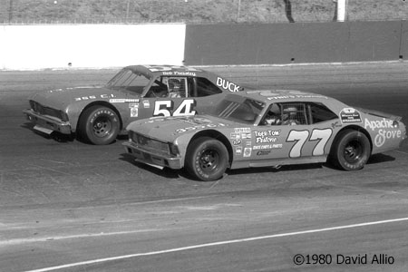 Hickory Speedway 1980 Harry Gant Bob Pressley