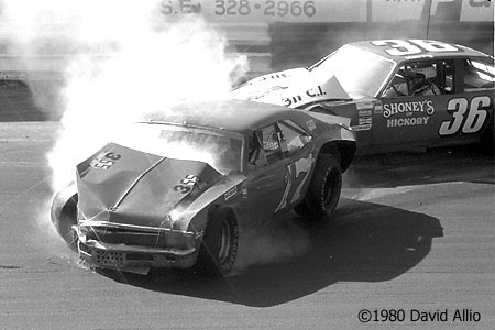 Hickory Speedway 1980 Chuck Bown Kerry Bodenhamer