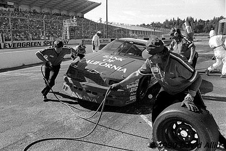 Evergreen Speedway 1990 Bill Schmitt
