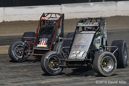 The Dirt Track at LVMS 2010 Damion Gardner Seth Wilson