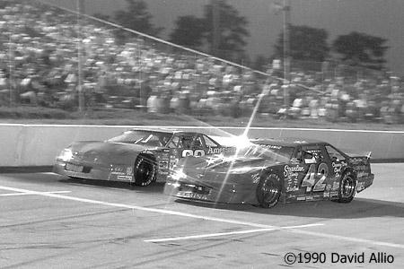 Jennerstown Speedway 1990 Glenn Gault Charlie Cragan