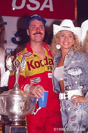 Bristol Intl Raceway 1990 Ernie Irvan Donna Moore
