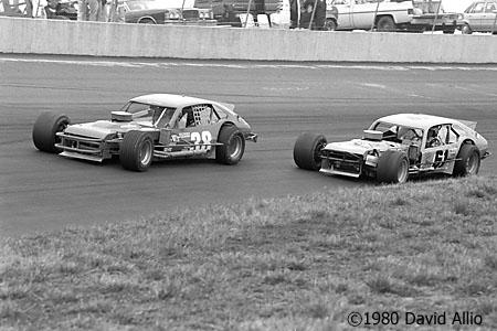 North Wilkesboro Speedway 1980 Richie Evans Jerry Cook
