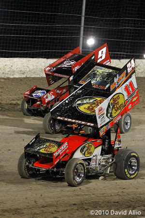 The Dirt Track at LVMS 2010 Steve Kinser Terry McCarl