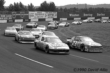 Portland Speedway 1990 Mike Chase Hershel McGriff