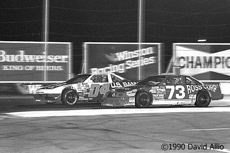 Saugus Speedway 1990 Bill Schmitt Hershel McGriff