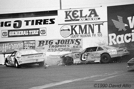 South Sound Speedway 1990 Chuck Chambers Jr Wes Rhodes