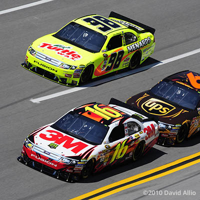 Talladega Superspeedway 2010 Greg Biffle Paul Menard