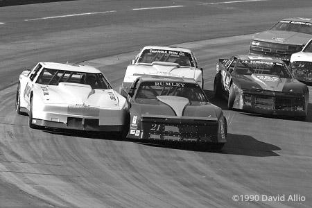 Martinsville Speedway 1990 Curtis Bubba Markham Johnny Rumley