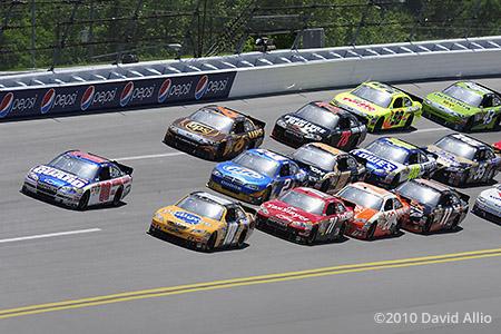 Talladega Superspeedway 2010 Dale Earnhardt Jr Kyle Rowdy Busch