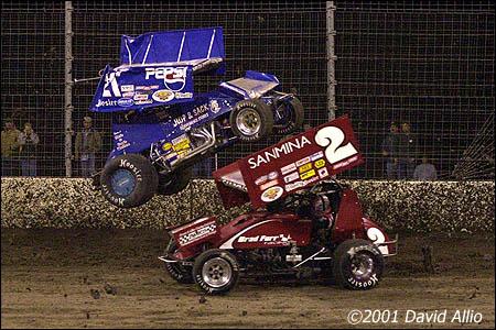 Texas Motor Speedway Dirt Track 2001 Danny Wood Brad Furr