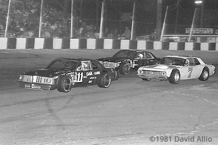 Asheville Motor Speedway 1981 Jack Ingram Randy Tissott