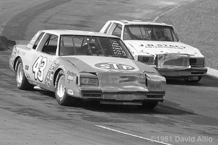 Martinsville Speedway 1981 Richard Petty Lennie Pond