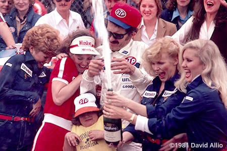 Daytona Intl Speedway 1981 Richard Petty Miss Winston Margaret Claud