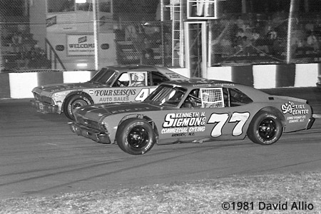 Asheville Motor Speedway 1981 Ronnie Crate Payne Tommy Sigmon