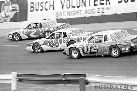 Nashville Intl Raceway 1981 Dale Earnhardt Ricky Rudd
