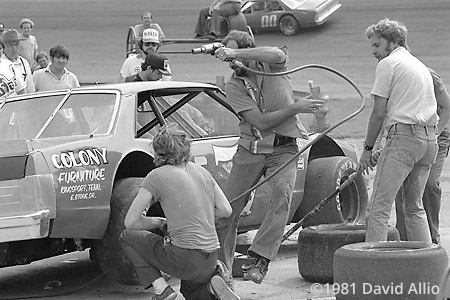 Kingsport Intl Speedway 1981 David Hunley Gene Glover