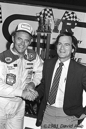 Nashville Intl Raceway 1981 Benny Parsons Gary Baker