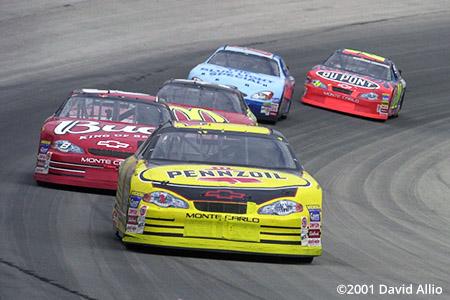 Texas Motor Speedway 2001 Steve Park Dale Earnhardt Jr